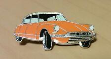Citroen Pin DS 19 orange glasiert 38x20mm