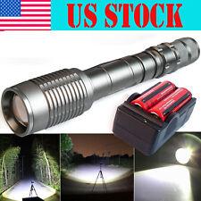 Ultrafire Tactical 12000Lumen CREE XML T6 LED Zoom Flashlight 18650 +Charger USA