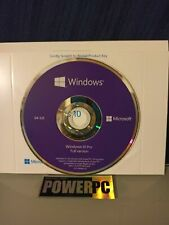 New Genuine Microsoft Windows 10 Pro Professional 64 bit Dvd+Product License Key