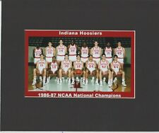 INDIANA HOOSIERS MATTED TEAM PIC OF 1986-87 NCAA BASKETBALL NATIONAL CHAMPS