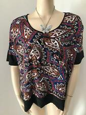 KATIES SIZE 2XL MIX MEDIA PAISLEY PRINTED TOP NEW WITH TAG
