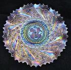 8041 Dugan ROUNDUP Splendid White Carnival Glass 9