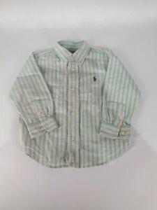 Childrens Boys Shirt Long Sleeve Smart Age 24mths 2yrs Ralph Lauren