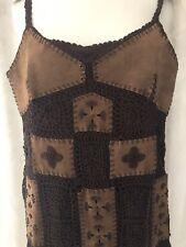 *RARE* Karen Millen Suede Patchwork Dress Size 1 6-8