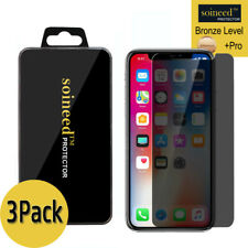 [3-Pack] Soineed iPhone X Privacy Anti-Spy REAL Tempered Glass Screen Protector