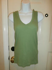AUTHENTIC WOMENS LACOSTE Top HOODIE MEDIUM SIZE 40 GATOR GREEN TANK