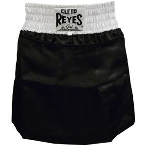 Cleto Reyes Women's Satin Boxing Skirt Trunks - Black/White