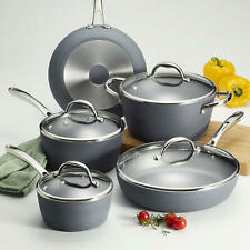 Tramontina 9-Piece Induction-Ready Gray Finish Nonstick Durable Cookware Set