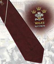 Wales Four Triple Crowns 76-77-78-79- maroon Rugby Tie