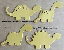 • • • Die Cuts ~ DINOSAURS x4 sets Yellow ~ Stampin Up C/S ~ Cards, Scrapbooking
