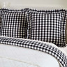 ANNIE BUFFALO BLACK CHECK Fabric Euro Sham Primitive Farmhouse VHC Brands