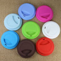 Heat Resistant Anti-Dust Silicone Coffee Cup Cover Leakproof Up Sealing Lid Cap