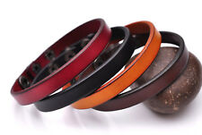 Lot 4PC Classic Fashion Genuine Leather Bracelet Cuff Wristband Single Wrap Men