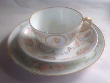 Vintage Portrait Cup & Saucer by GDA Limoges France