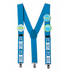 BABY SHOWER Dad To Be SUSPENDERS ~ Party Supplies Awards Guest of Honor Blue