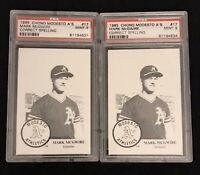 (2) MINT 1985 Modesto As Baseball #17 MARK McGWIRE PSA 9 ROOKIE CARDS!!!!!!!!!!!
