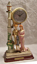 The No. One Collection: Old Style Quartz Clock on Ceramic Lamp Post w/Boy & Girl