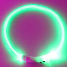 USB Rechargeable Pet Collar LED Flashing Light Waterproof Band Dog&Cat Toys New