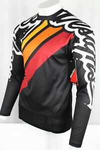 Troy Lee Designs Men's Sprint Jersey Long Sleeve Medium Seca 2.0 Black Burgundy