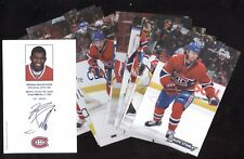 2009-10-11 POSTCARD MONTREAL CANADIENS NHL HOCKEY POST CARD STANLEY CUP SEE LIST