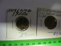 NETHERLANDS  1786 Utrecht Silver 2 Stuivers Coin.(& 1900s  Lisse Gas Token)