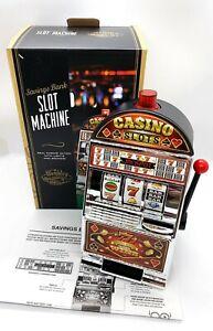 WEMBLEY Casino Slot Machine Savings Bank - Lights Up & Sounds! NEW IN BOX!