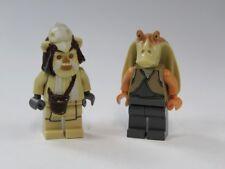 Lego Star Wars™ Lot de 2 FIGURINES JAR BINKS Ewok Logray en 7956 mini