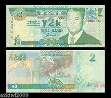 Fiji 2 Dollars 2000 Millennium Commemorative Y2K Issue  P-102a  UNC  Banknotes