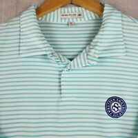 Rare PETER MILLAR TOUR FIT Size XL Western Amateur Mens Golf Polo Shirt Striped
