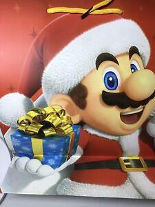 "Super Mario Nintendo Holiday Gift  Paper  bag 7.5"" x 9.5"""