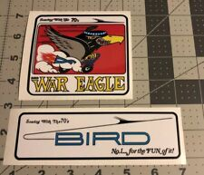 War Eagle Soaring With The 70's Bird Powered Vintage Mini Bike Decals Set 2