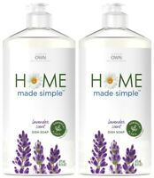 (Pack of 2) Home Made Simple Liquid Dish Soap - Lavender Scent - 16 Fl Oz