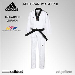 Adidas GRAND MASTER 2 Taekwondo Dan Uniform WTF Dobok TKD ClimaCool Technology