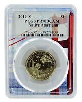 2019 S Sacagawea Dollar PCGS PR70 DCAM Flag Frame