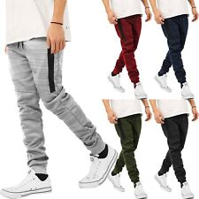 6740a981be56 Mens JOGGER Pants Sweatpants Slim Fit Polyester Casual Fleece Basic Fashion