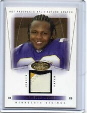 MEWELDE MOORE Tulane / Vikings 2004 Fleer Hot Prospects Jersey Patch RC /350 SP