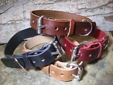 Handmade Leather 1 inch Wide Dog Collar/Collars Black Brown