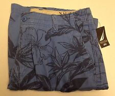 Nautica  Men's 30 Years on the WaterFlat Front Classic Fit Shorts, Size 36, Blue