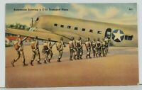 Paratroops Entering a C-53 Transport Plane Postcard N12