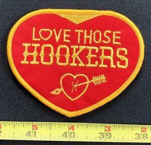 Vintage 1970s Love Those Hookers Headers Racing Equipment hot rod ratfink Patch
