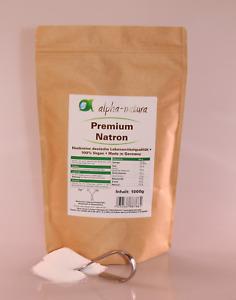 5 x 1Kg reines Natron Natriumhydrogencarbonat in Lebensmittelqualität E500ii