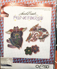 Oesd Multi-Format Embroidery Feline Faeries Laurel Bush design Collection/Usb