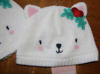 NWT Gymbroee Infant Baby Toddler Bear Beanie Hats Lined Sz 0-6m 12-24m