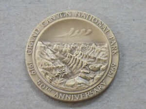 Grand Canyon National Park 50th Anniversary Medal 1919-1969 MACO