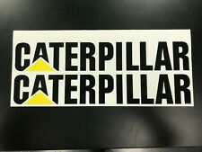 "2 CATERPILLAR 12"" Stickers Decals CAT sticker decal ford dodge chevrolet BLACK"
