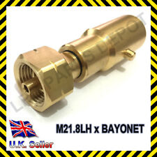 LPG propan Gas Adaptor Refill Motorhome Caravan Gas Bottle Male 21.8mm LH Thread