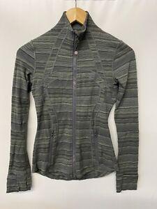 lululemon Define Jacket Space Dye Twist Dark Slate Fatigue Green Sz 2
