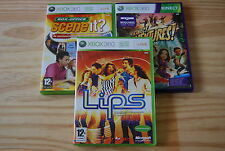 LOT XBOX LIPS, SCENE IT,KINECT ADVENTURE - XBOX 360