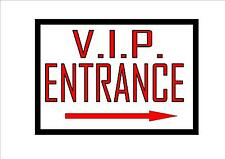 Theatre V.I.P. Entrance Reproduction  Sign Vintage Theater Theatre Sign
