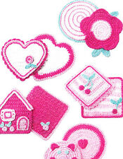 CLEARANCE   - PATTERN - Pink Potholders & Dishcloths - fun crochet PATTERN